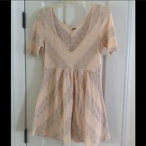 MOVING SALE Free people tunic babydoll top lace
